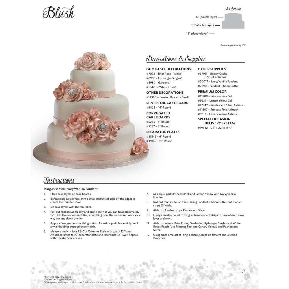 Blush Stacked Wedding Cake Decorating Instructions | DecoPac