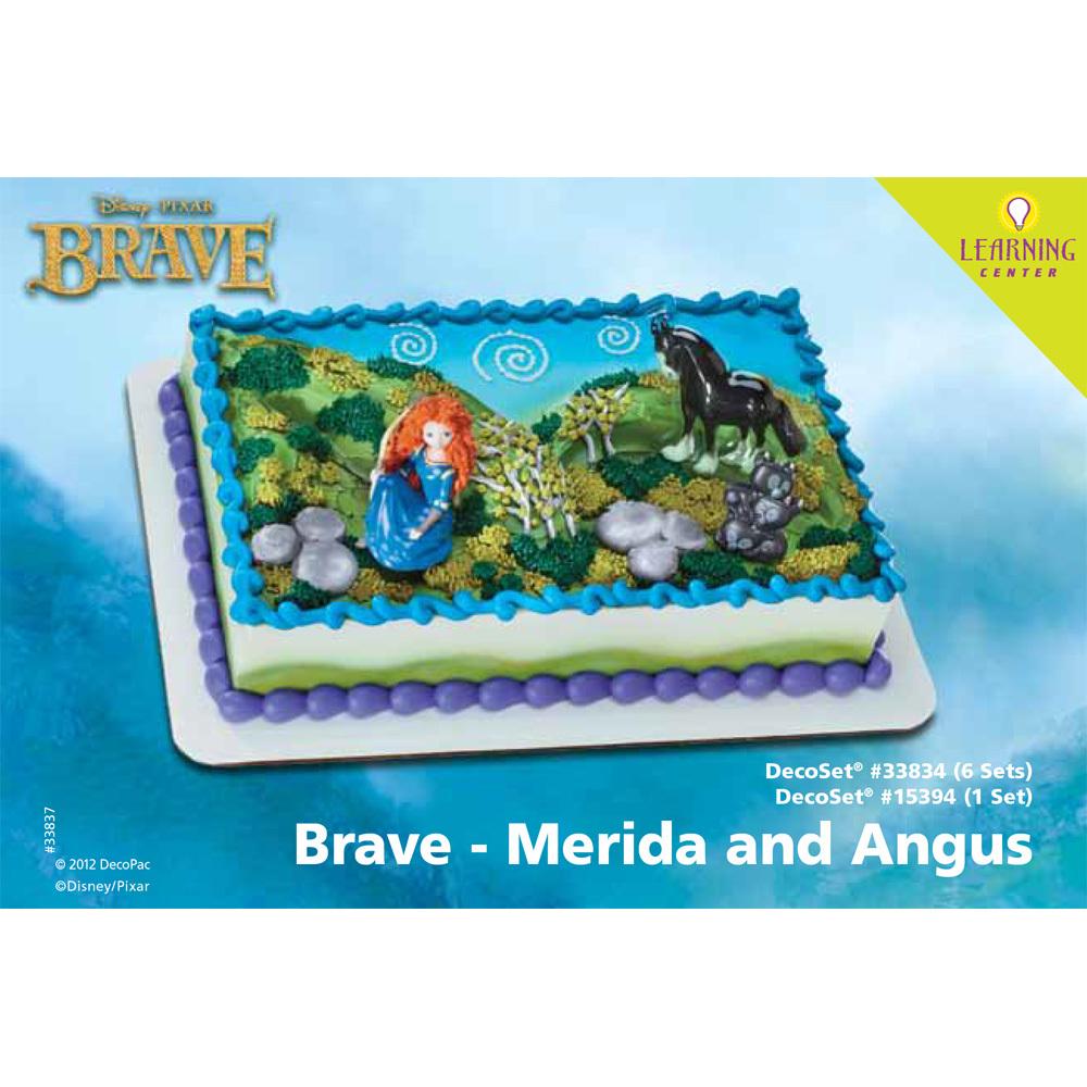 brave merida and angus decoset® 1/4 sheet cake decorating