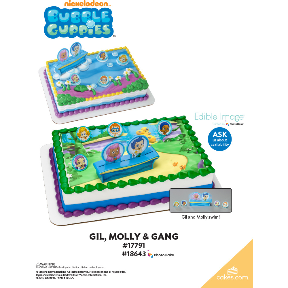 Bubble Guppies™ Gil, Molly and Gang The Magic of Cakes® Page