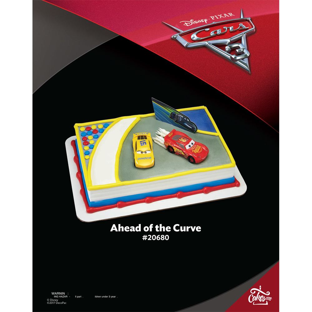 Cars 3 Ahead Of The Curve Decoset 1 4 Sheet The Magic Of Cakes