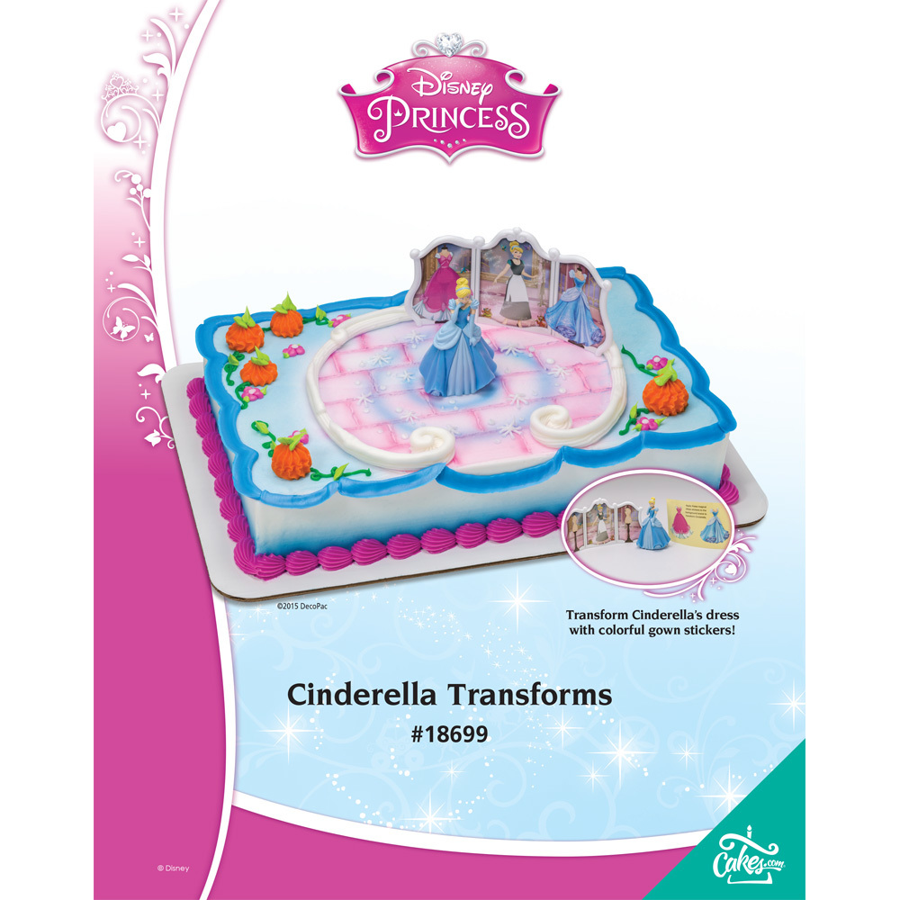Cinderella Transforms DecoSet® 1/4 Sheet The Magic Of Cakes® Page