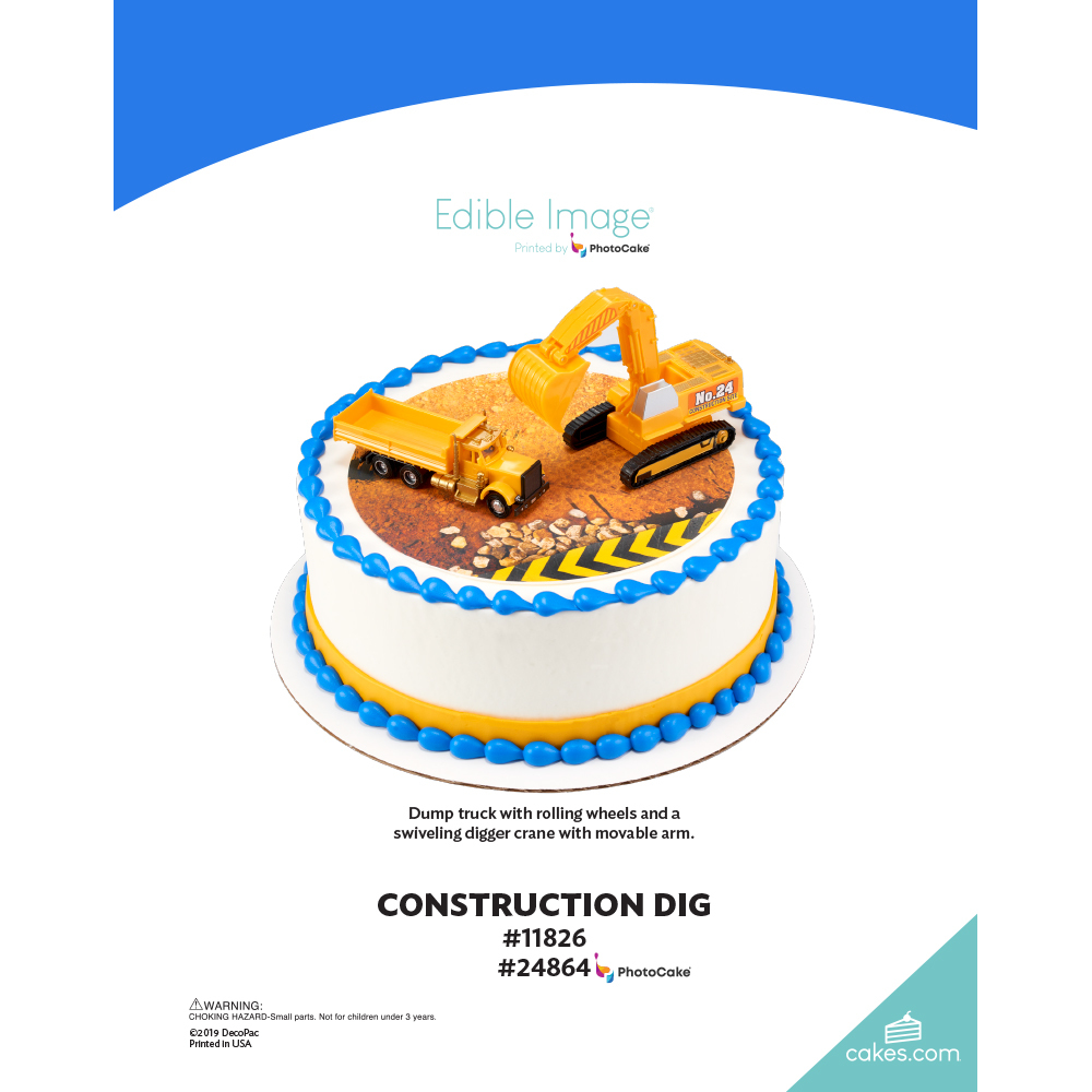 Construction Dig The Magic of Cakes® Page