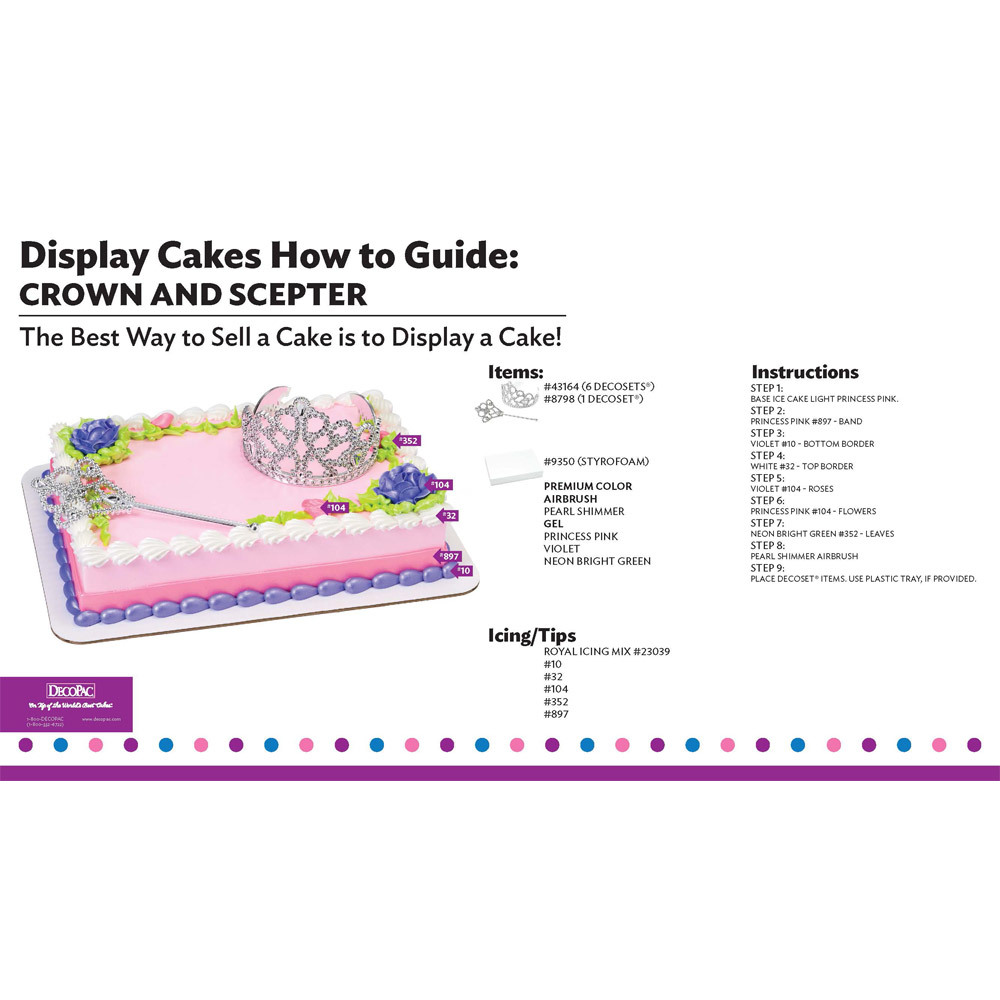 Crown and Scepter Display Cake Guide