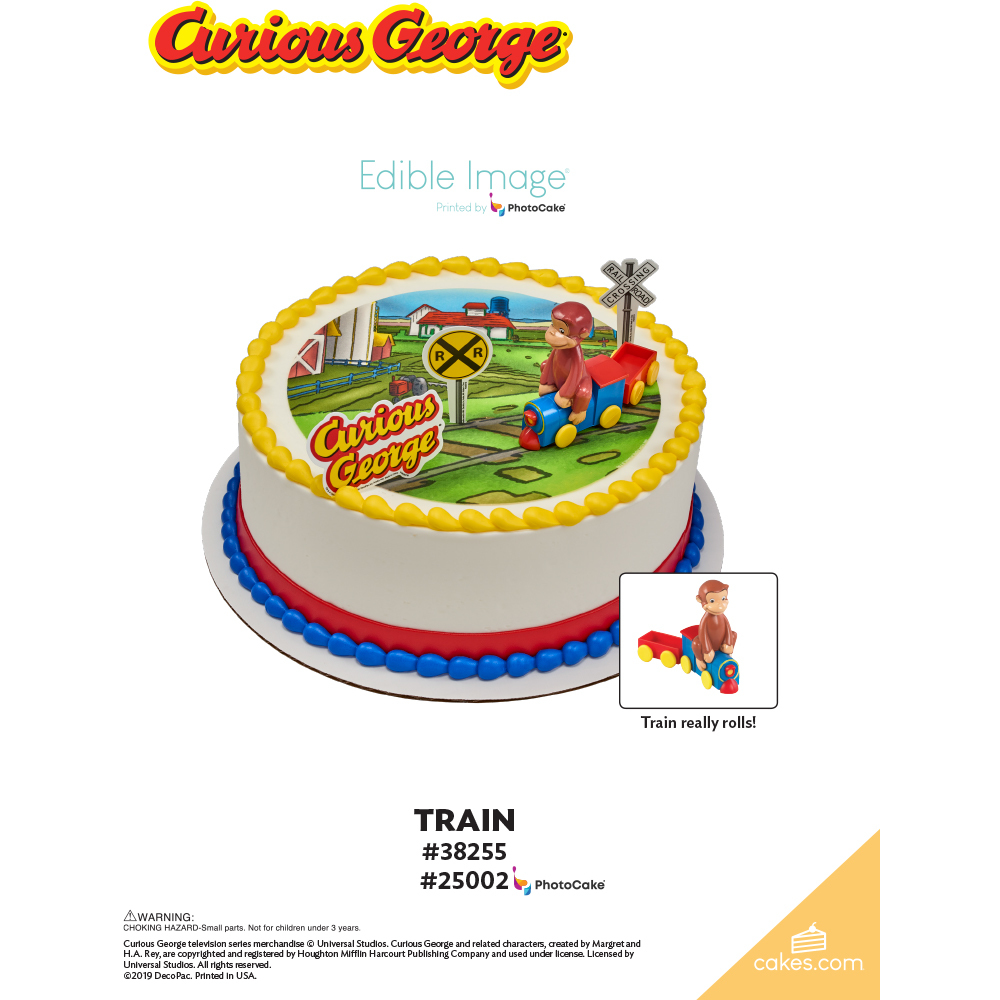 Curious George® Train The Magic of Cakes® Page