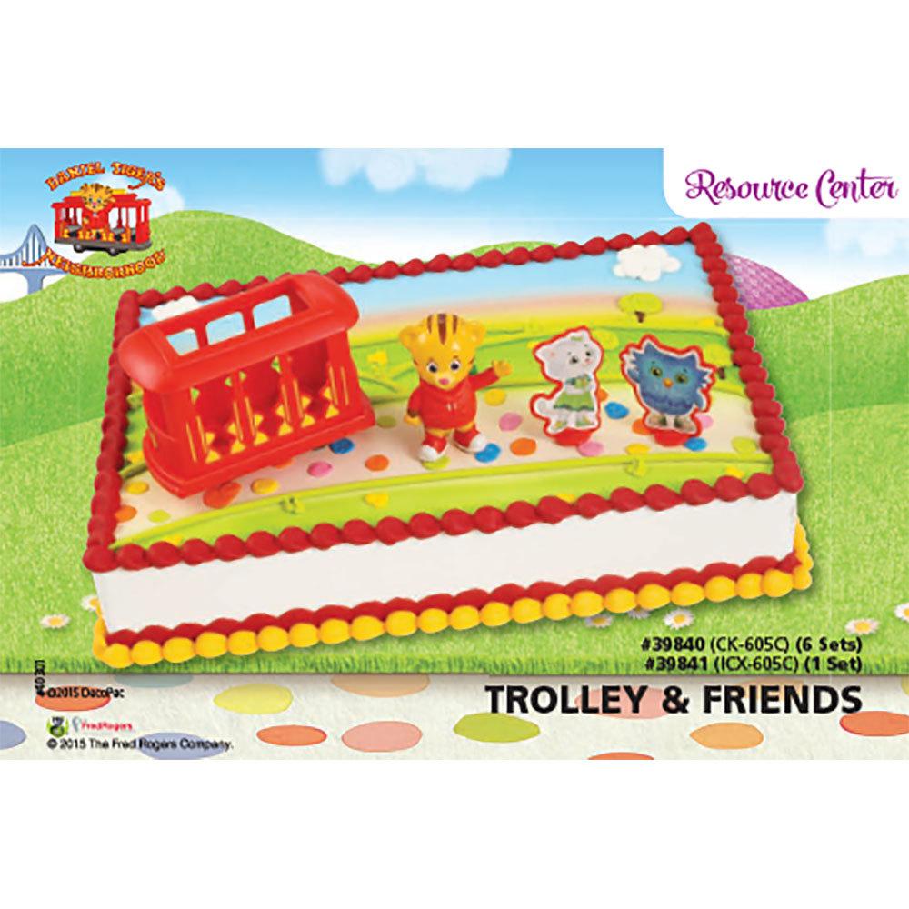 Daniel Tiger's Neighborhood® Trolley Friends Cake Decorating Instruction Card