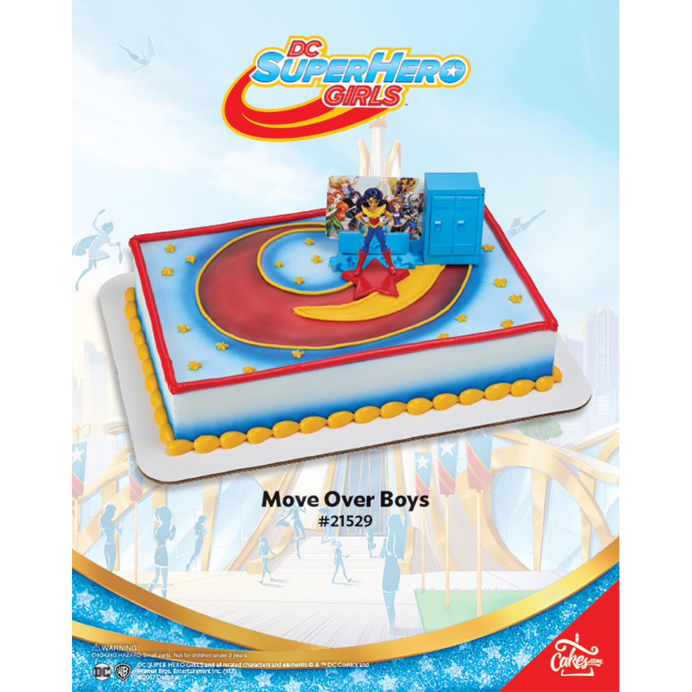 DC Super Hero Girls Move Over Boys DecoSetR The Magic Of CakesR Page