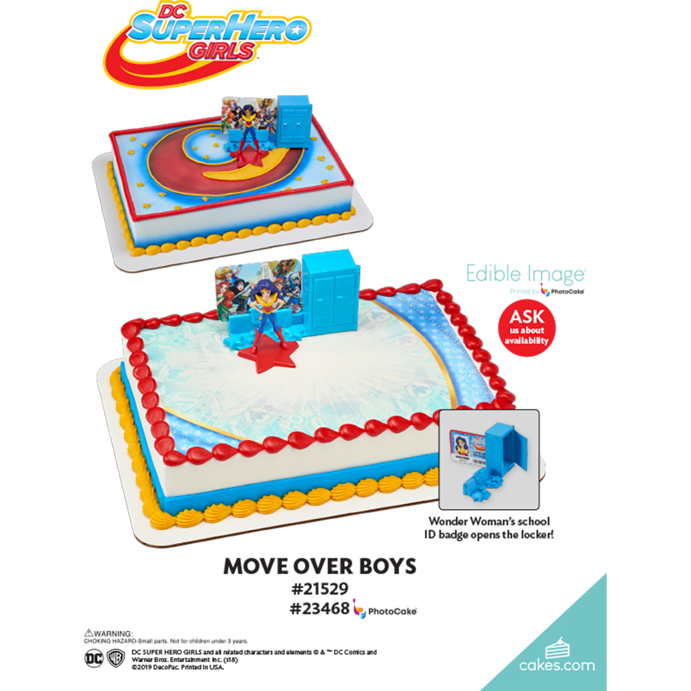DC Super Hero Girls™ Move Over Boys The Magic of Cakes® Page