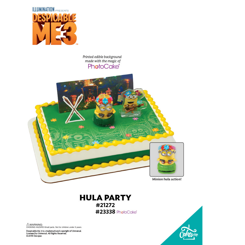 Despicable Me 3 Hula Party PhotoCakeR Background The Magic Of CakesR Page