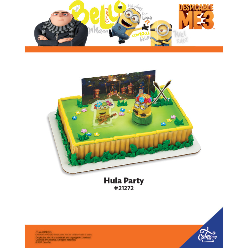 Despicable Me 3 Lets Party DecoSetR The Magic Of CakesR Page