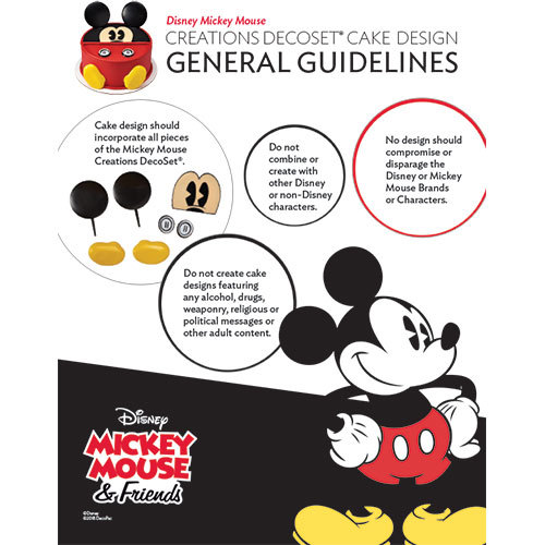 Disney Mickey Mouse DecoSet® Creation Design Guidelines