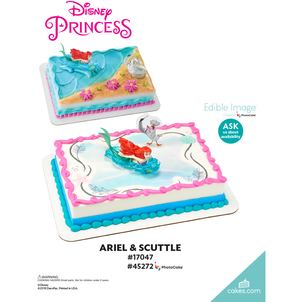 Disney Princess The Little Mermaid Ariel and Scuttle The Magic of Cakes® Page