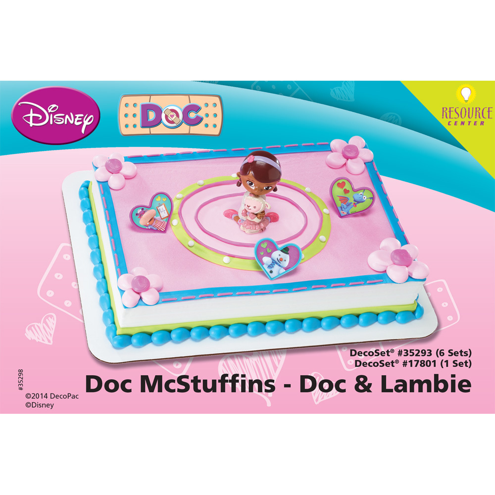 Doc McStuffins Doc and Lambie DecoSet® Cupcake Cake Decorating Instructions