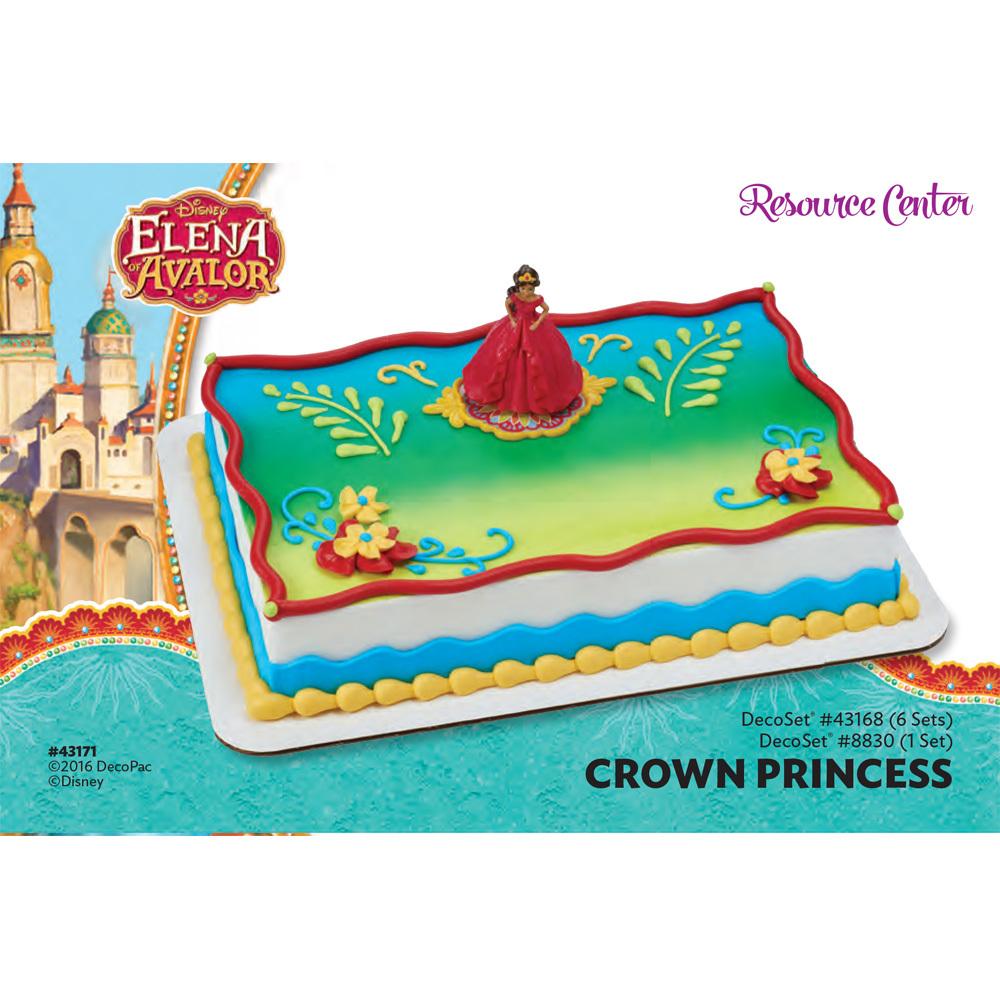 Elena Of Avalor Crown Princess DecoSetR 1 4 Sheet Cake Decorating Instructions