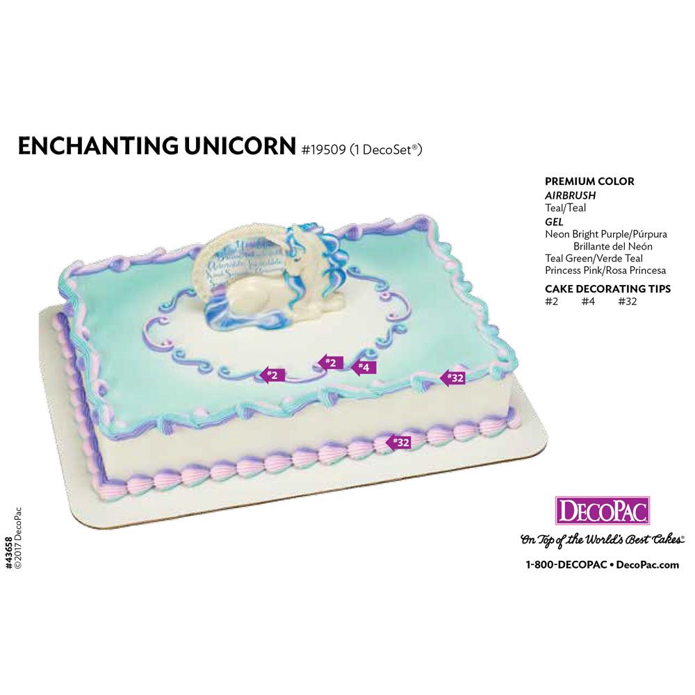 Enchanting Unicorn Cake Decorating Instructions Card