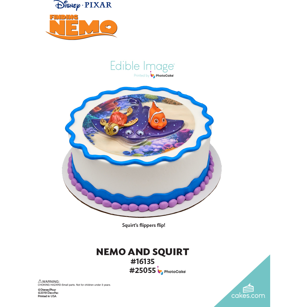 Finding Nemo Nemo and Squirt The Magic of Cakes® Page