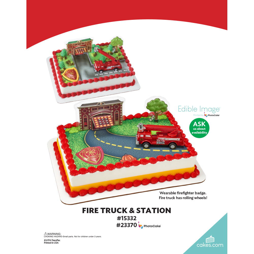 Fire Truck & Station The Magic of Cakes® Page