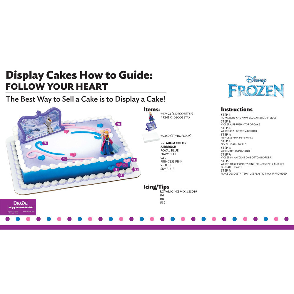 Disney Frozen Follow Your Heart Display Cake Guide