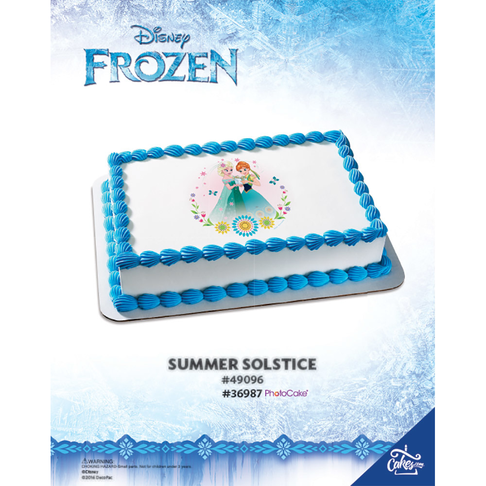 Frozen Fever Summer Solstice PhotoCake® Image The Magic of Cakes® Page