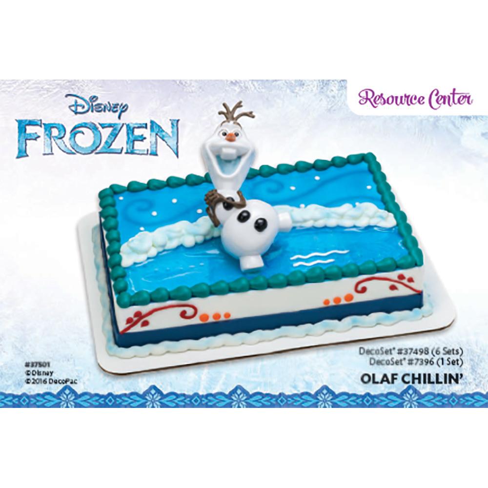 DecoPac Frozen Olaf Chillin DecoSet 14 Sheet Cake Decorating