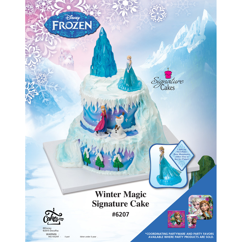 Frozen Winter Magic Signature Cake DecoSet® The Magic Of Cakes® Page ... 3147f76fb0ef