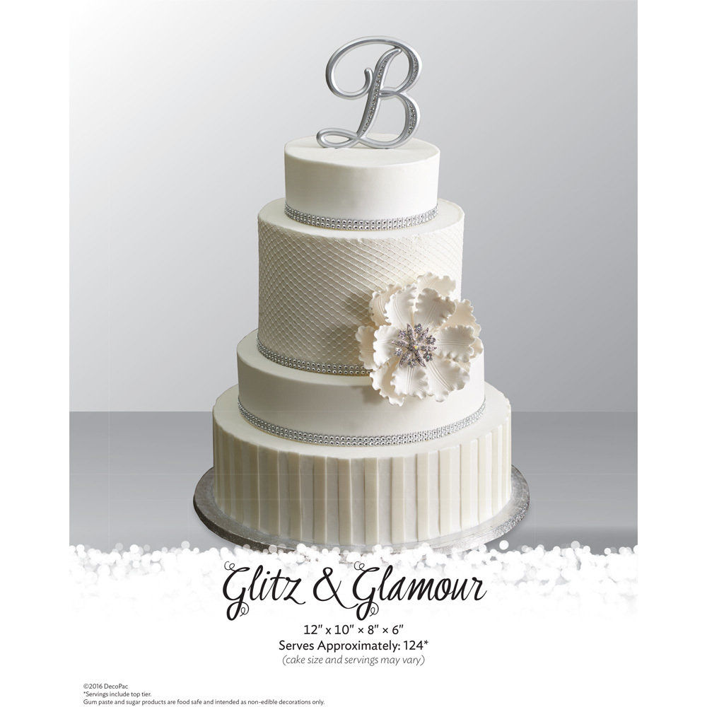 Glitz & Glamour Stacked Wedding Cake The Magic Of Cakes® Page | DecoPac