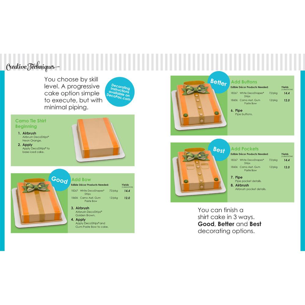 Gum Paste Camo Bow Tie Shirt 14 Sheet Cake Decorating Instructions