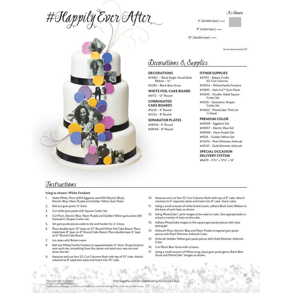 Happily Ever After Cake Decorating Instructions | DecoPac