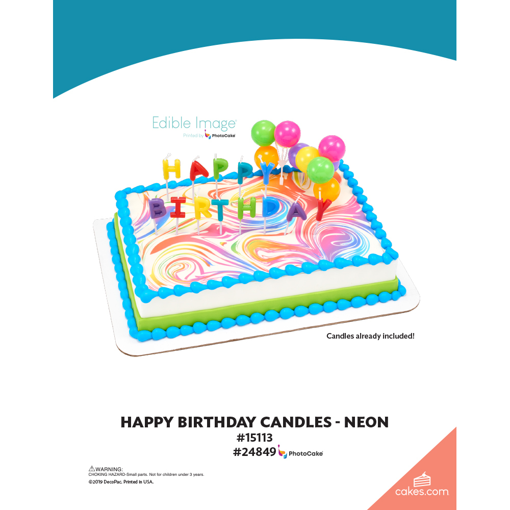 Happy Birthday Candles Neon The Magic of Cakes® Page