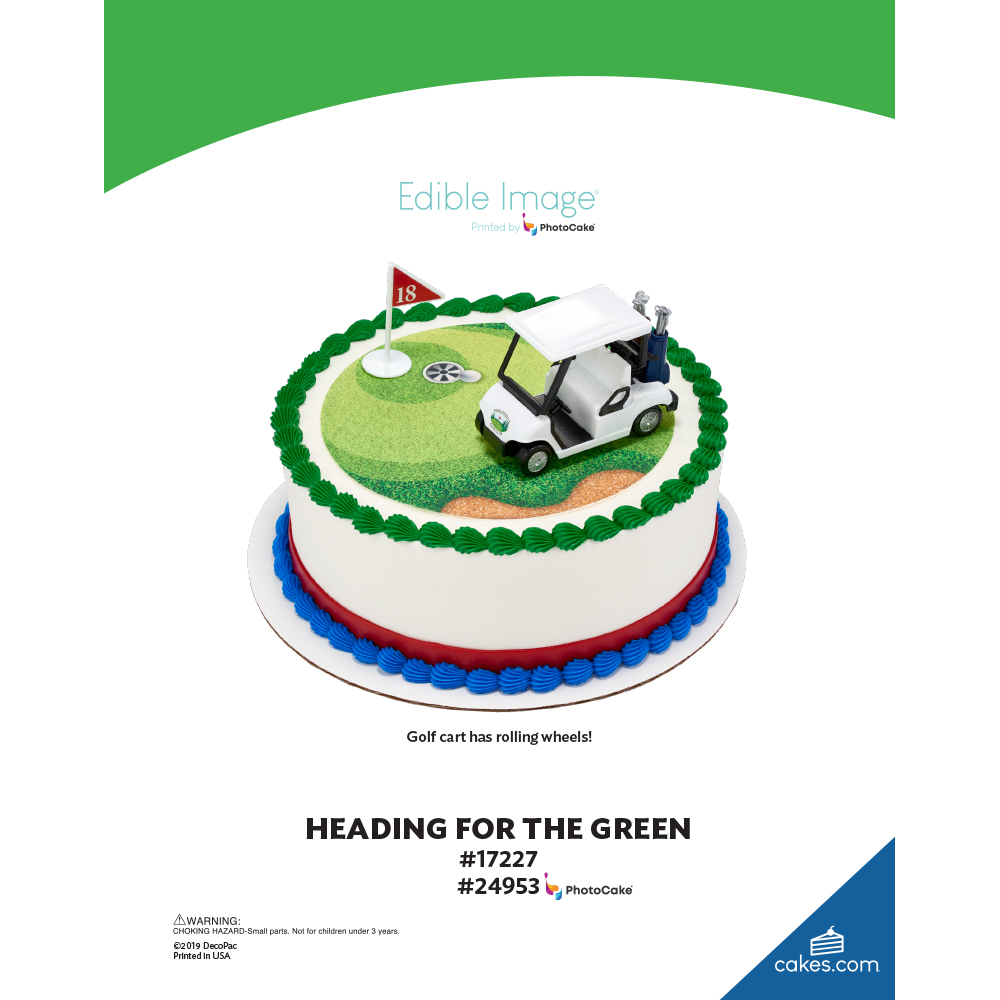Heading for the Green The Magic of Cakes® Page