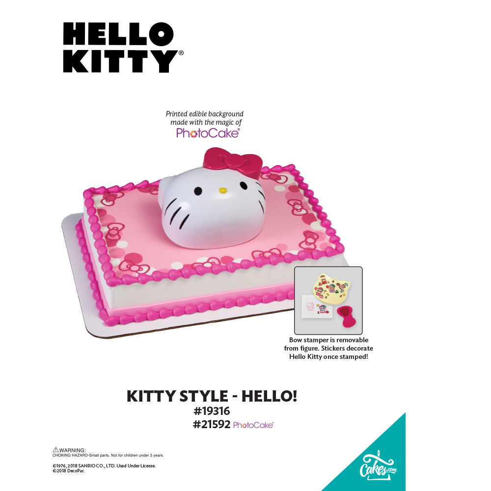 Hello Kitty® Hello! PhotoCake® Background The Magic of Cakes® Page