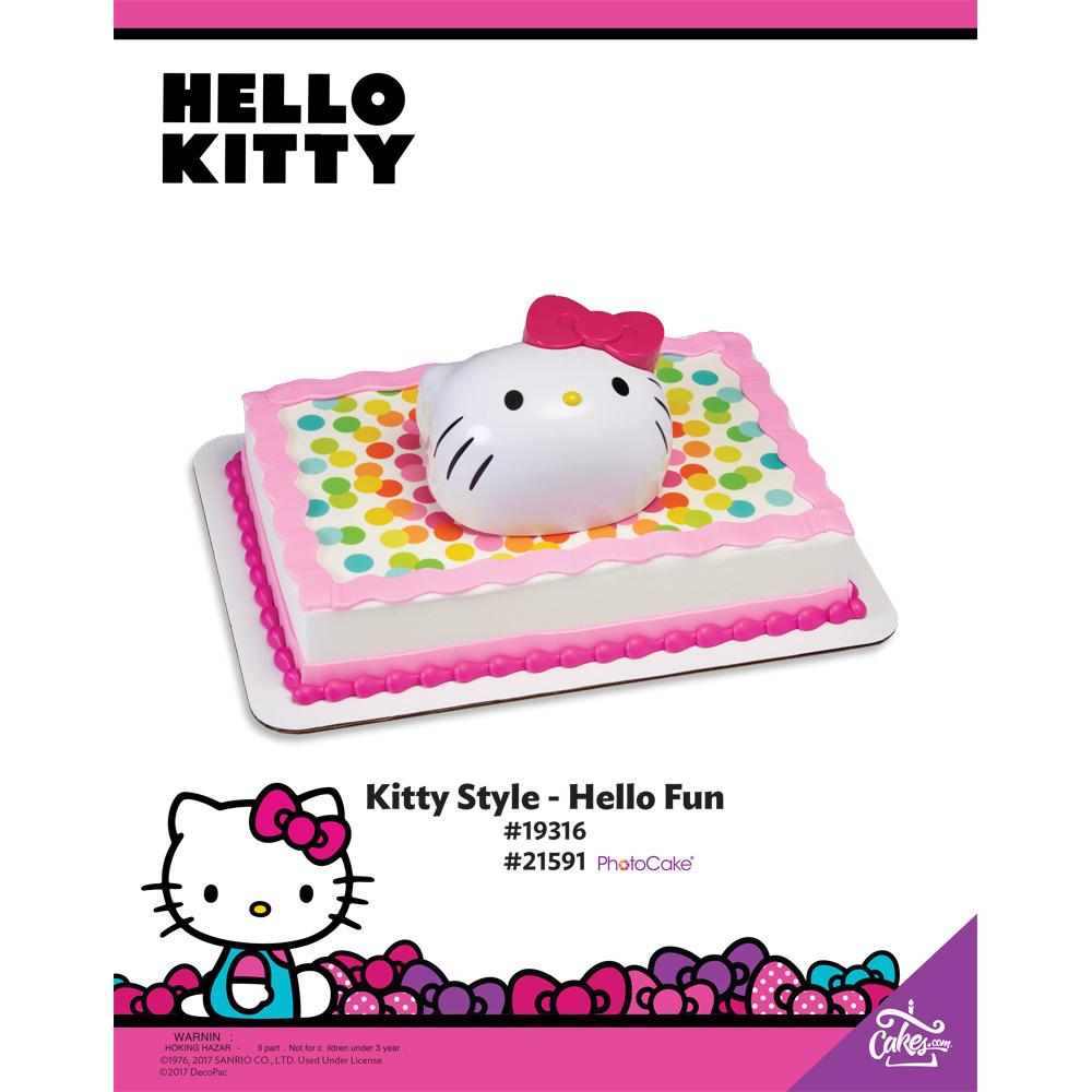 Hello Kitty Hello Fun PhotoCake® Background The Magic of Cakes® Page