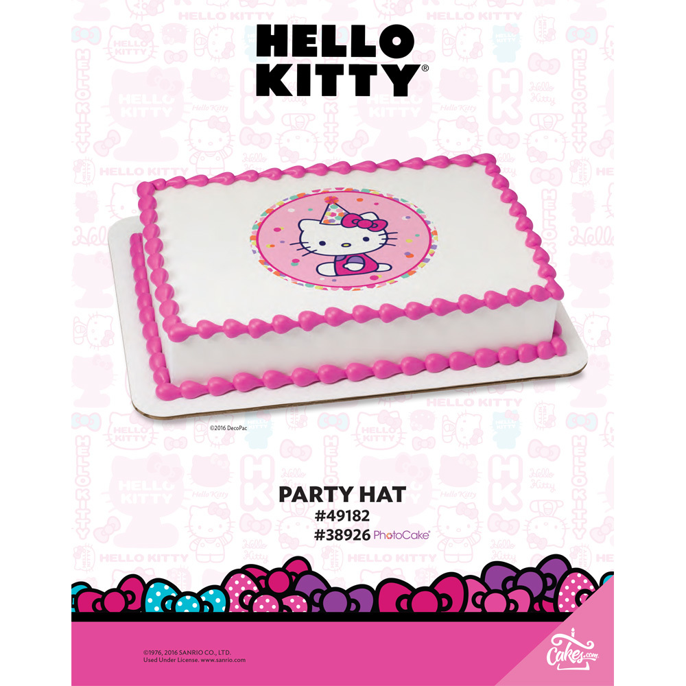 Hello Kitty Party Hat Edible Image Photocake Image The
