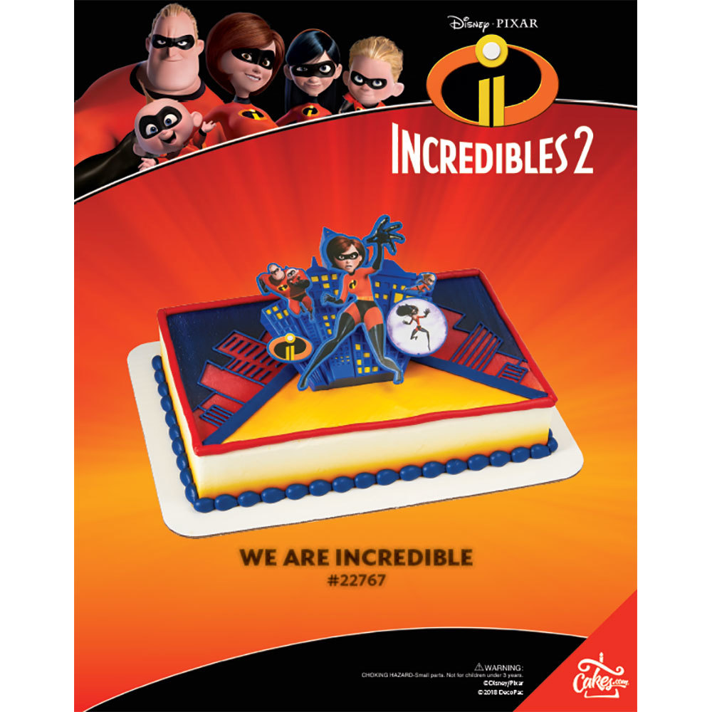Incredibles 2 We are Incredible DecoSet® The Magic of Cakes Page