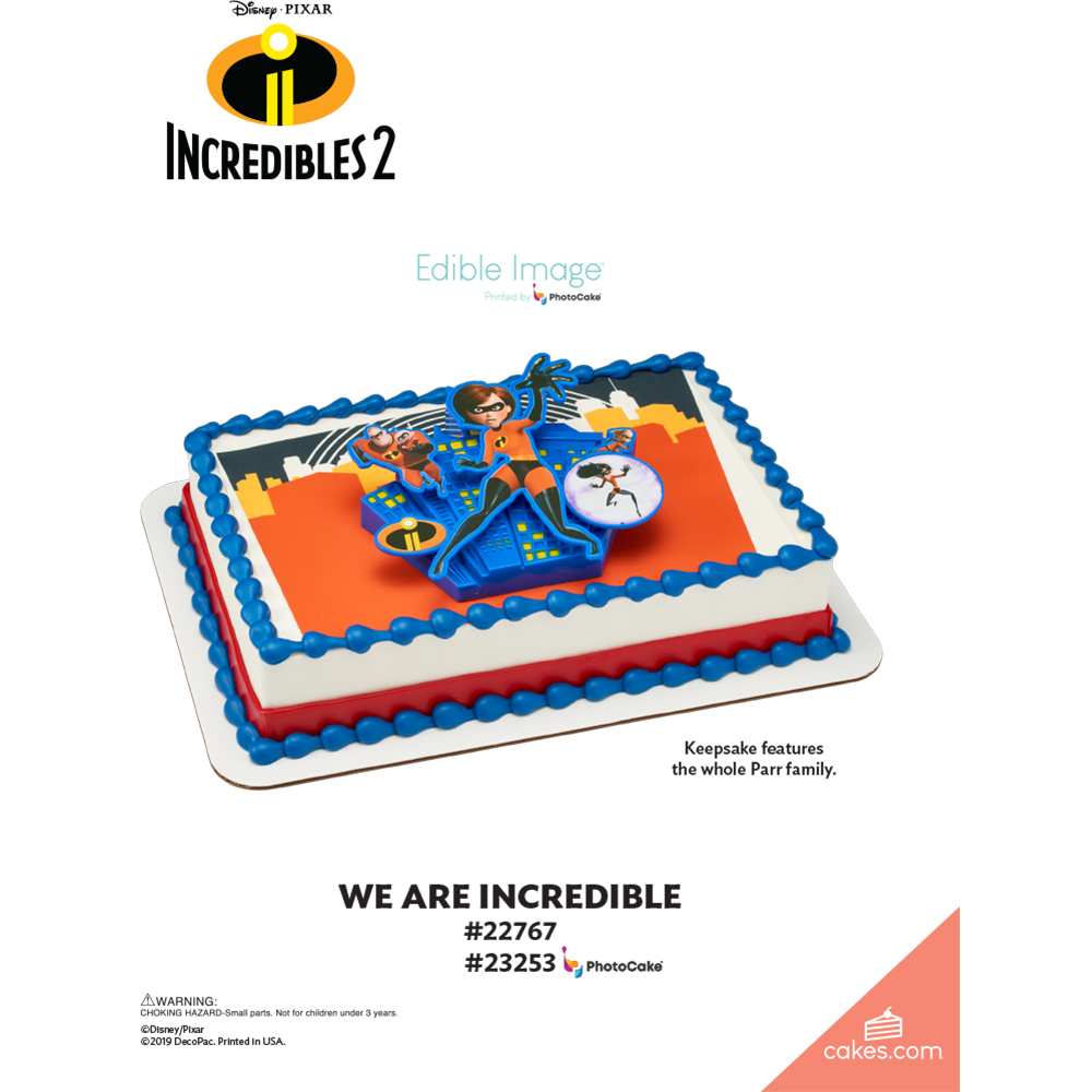 Incredibles 2 We are Incredible The Magic of Cakes® Page