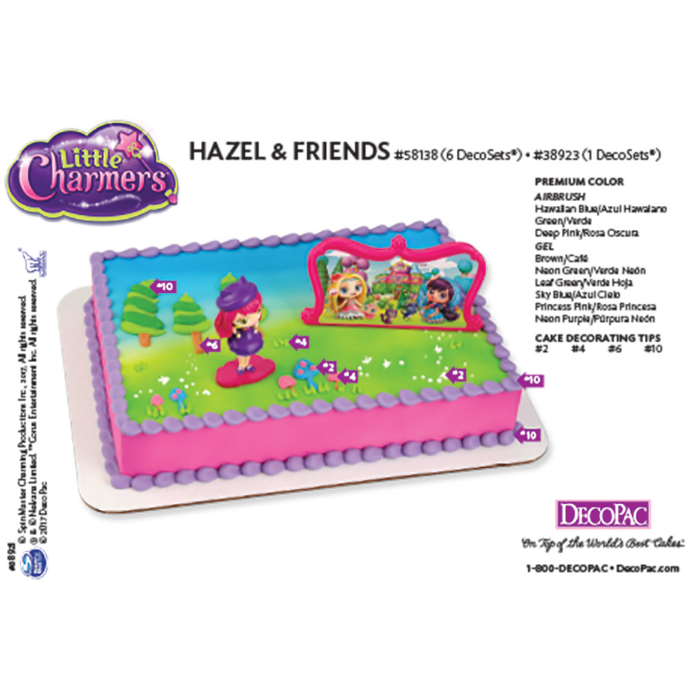 Little Charmers Hazel & Friends DecoSet® Cake Decorating Instruction Card