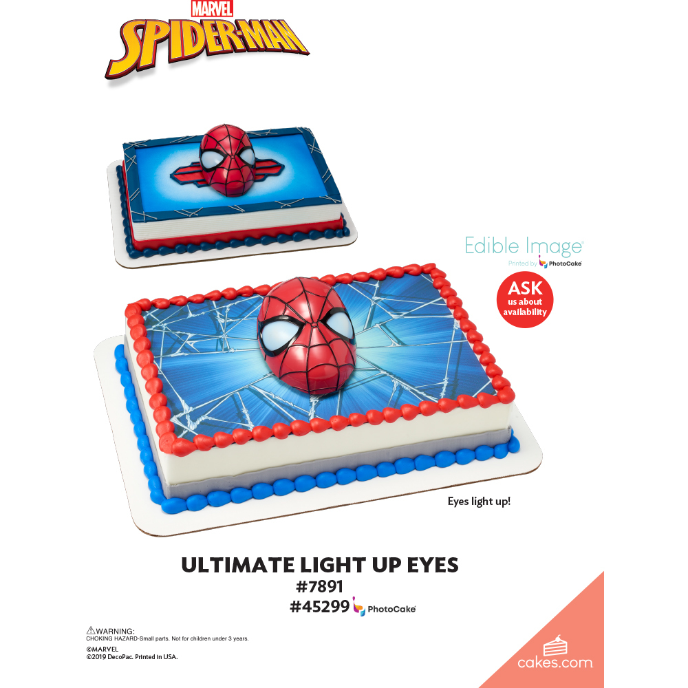 MARVEL Ultimate Spider-Man™ Ultimate Light-Up Eyes The Magic of Cakes® Page