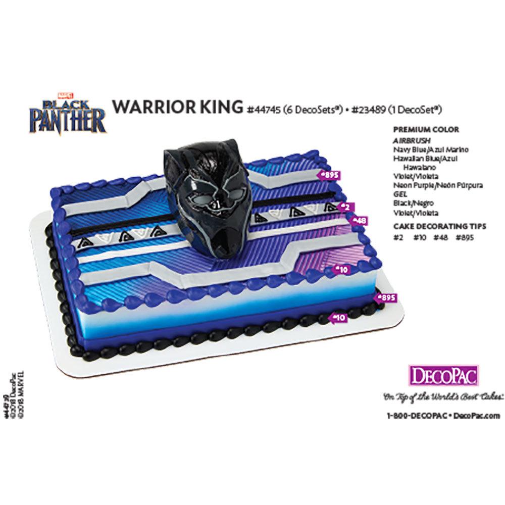 Marvel's Black Panther Warrior King DecoSet® Cake Decorating Instruction Card