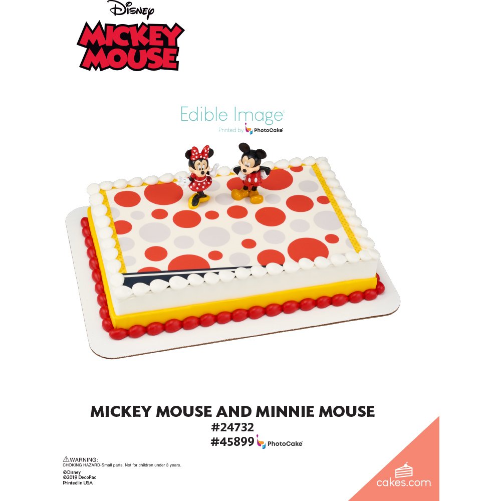 Mickey Mouse and Minnie Mouse The Magic of Cakes® Page