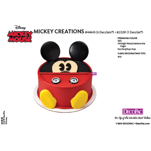Mickey Mouse Creations Cake Decorating Instructions Card