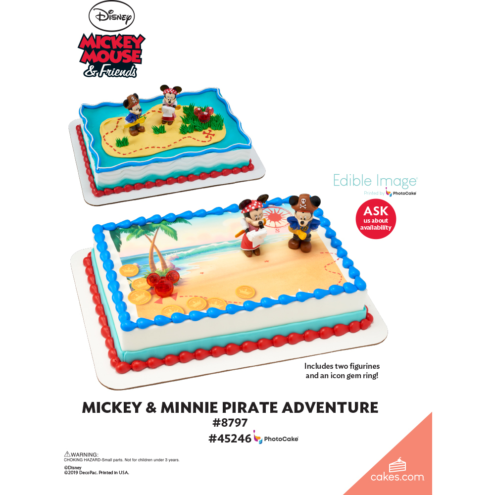 Mickey Mouse & Friends Mickey & Minnie Pirates The Magic of Cakes® Page