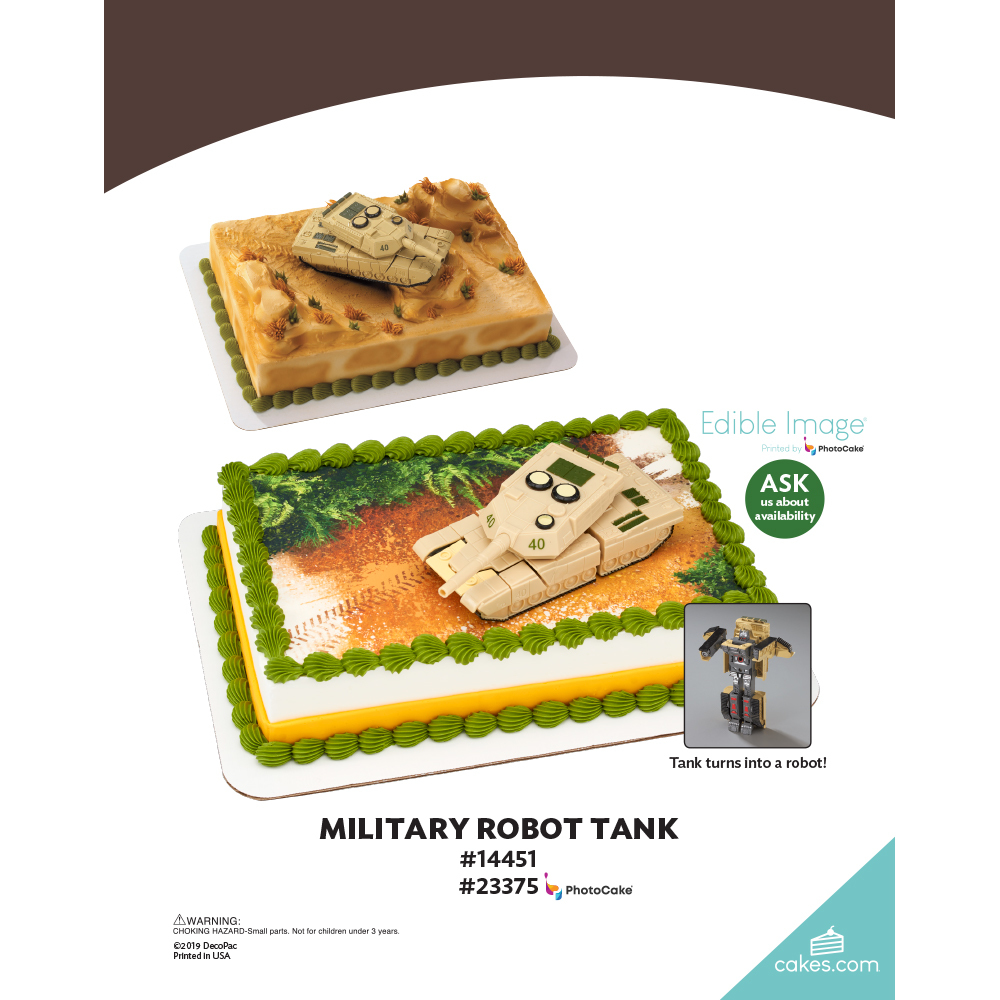 Military Robot Tank The Magic of Cakes® Page