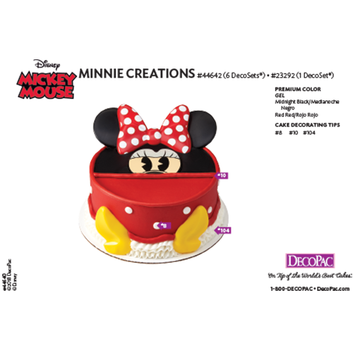 Minnie Mouse Creations Cake Decorating Instruction Card