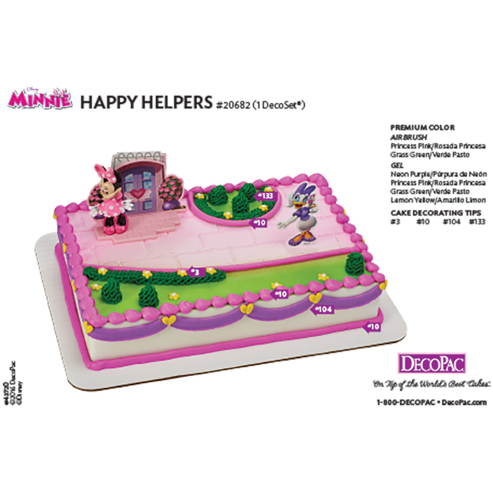 Minnie Mouse Happy Helpers DecoSet® Cake Decorating Instruction Card