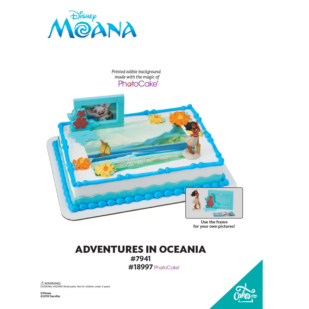 Moana Adventures in Oceania PhotoCake® Background The Magic of Cakes® Page