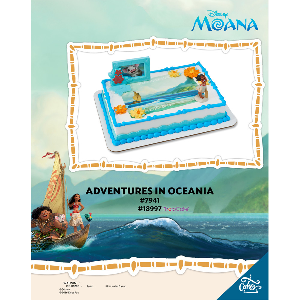 Moana Adventures in Oceania PhotoCake® Enhance Background The Magic of Cakes® Page