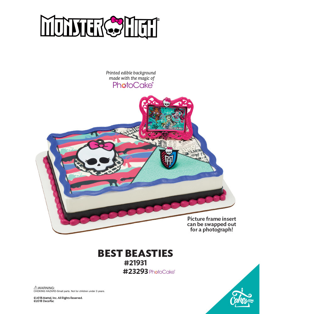 Monster High™ Best Beasties PhotoCake® Background The Magic of Cakes® Page