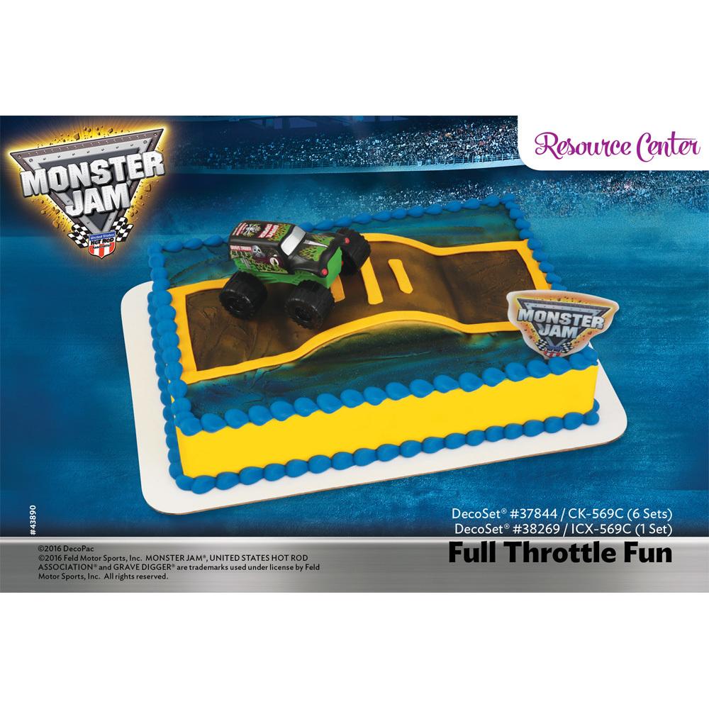 monster jam full throttle fun decoset 1 4 sheet cake decorating