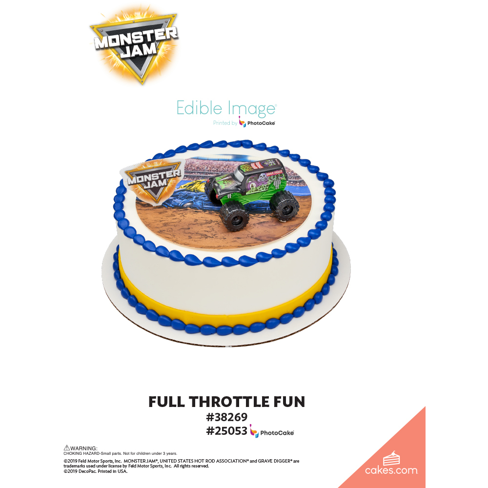 Monster Jam® Full Throttle Fun The Magic of Cakes® Page