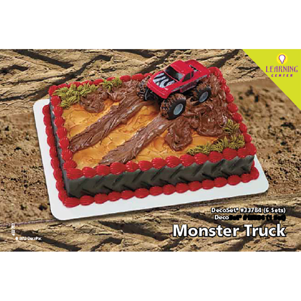 Monster Truck Decoset 1 4 Sheet Cake Decorating Instructions Decopac