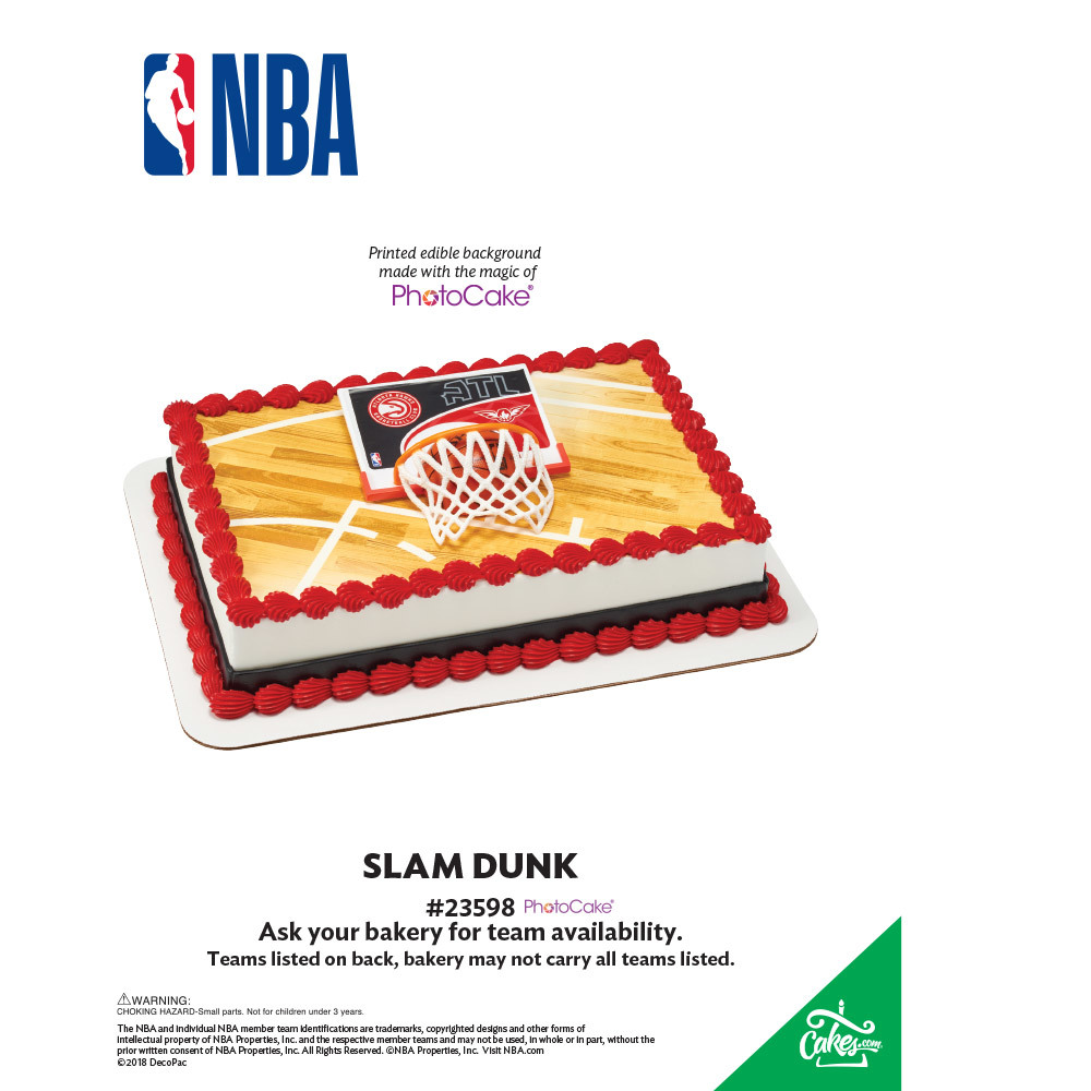 NBA Slam Dunk All Teams PhotoCake® Background The Magic of Cakes® Page